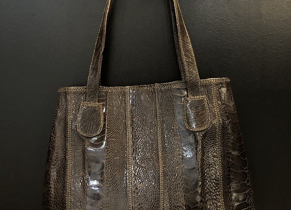 Ostrich Bag - Brown