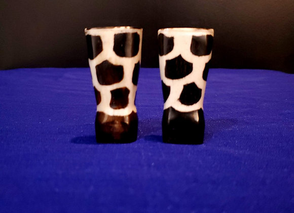 Bone Salt & Pepper Shakers