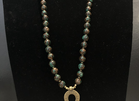 Turquoise Bronzite with Ankh