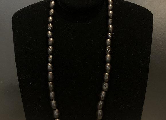 Dark Coffee Bead Necklace