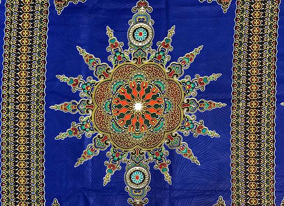 Blue Tribal Fabric