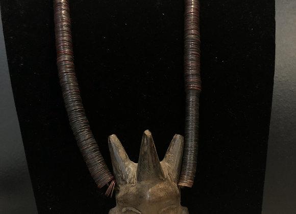 Antique Tribal Mask Necklace