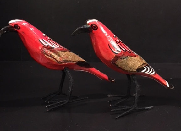 Hand-painted Red Birds