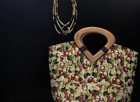 Large Wooden Handle 3 Piece Bag