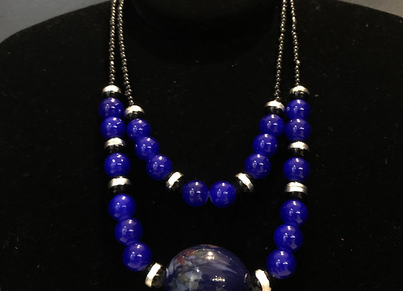 2 Piece Chunky Bead Necklace Set