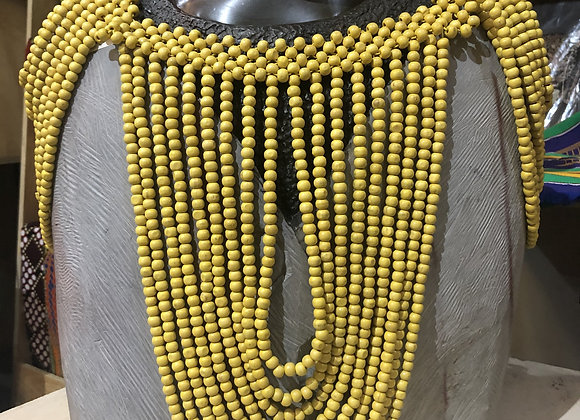 Over the Shoulder Necklace - Yellow