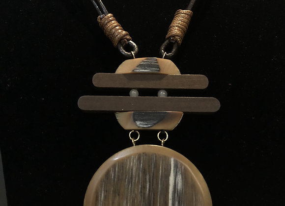 Nigerian Wood Circle Pendant