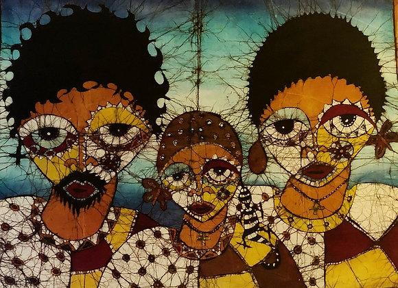 Family of 3 Batik