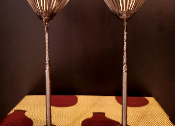 Silver Tree Candle Stand Set