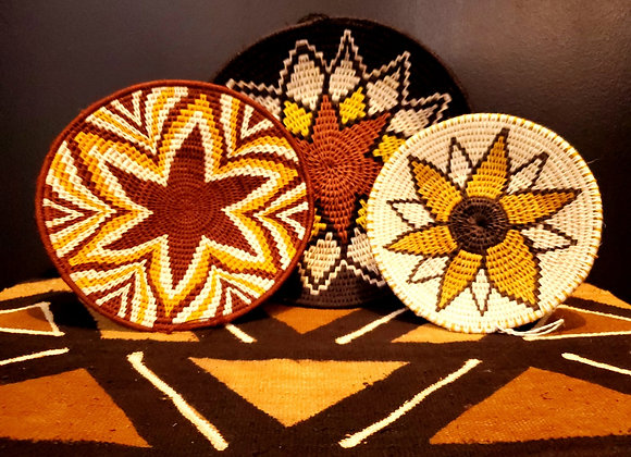 Colored Woven Bowls