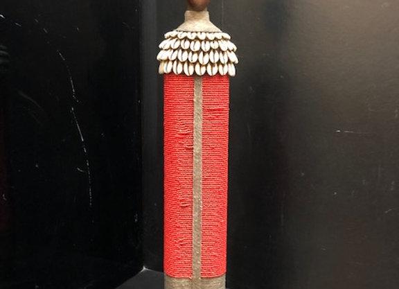 XL Red Namji Doll w/ Cowrie Shells