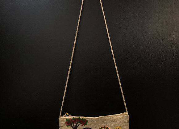 Beaded and Painted Canvas Bags