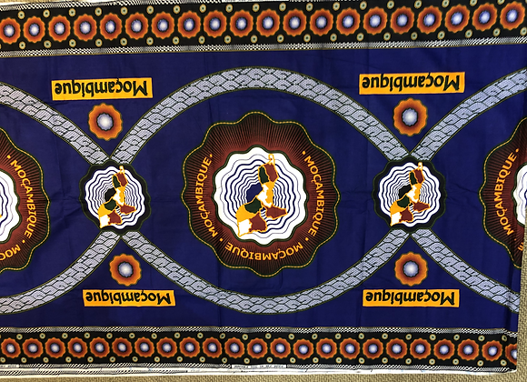 Mozambique Blue Fabric