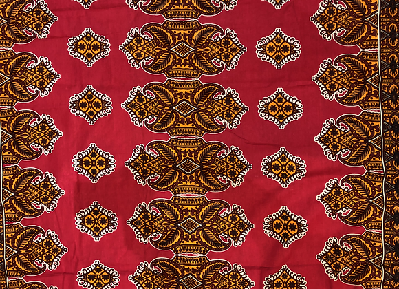 Red Leaves Fabric