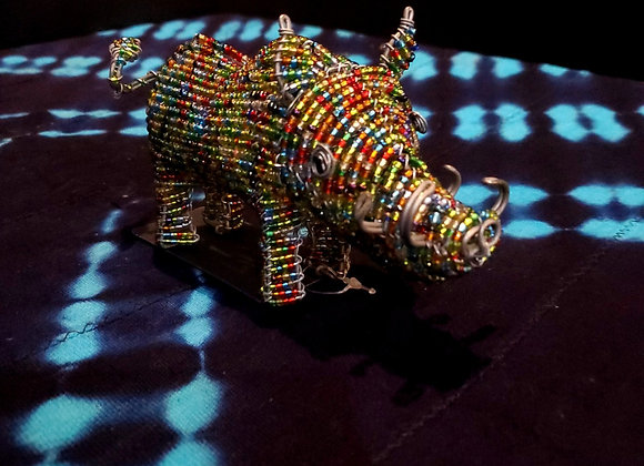 Wire Beaded Warthog