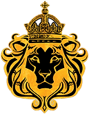 BK Lion Head_goldleaf and black_transpar