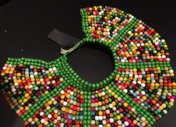 Multi-colored Beaded Collar