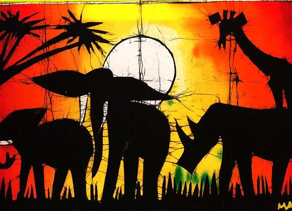 Animal Sunset Batik