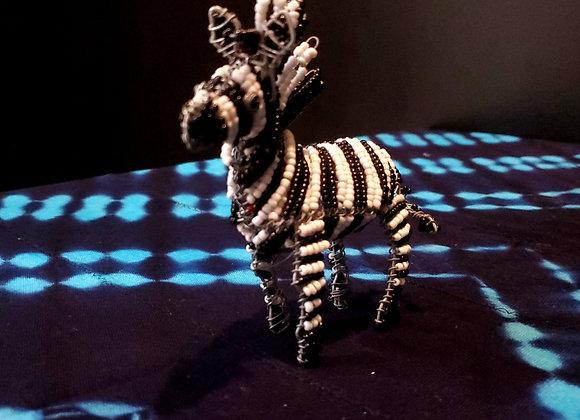 Wire Beaded Zebra