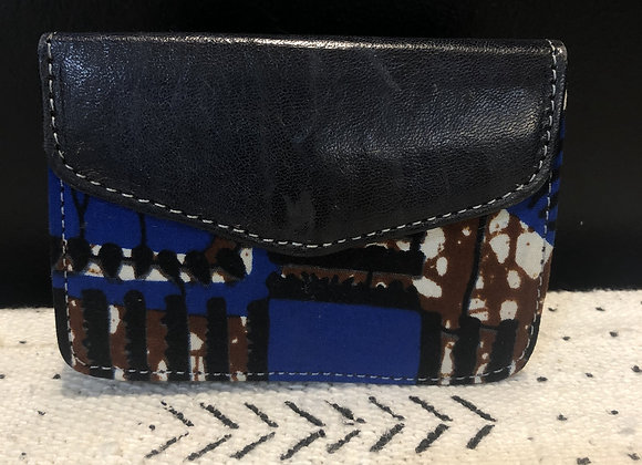 Leather Wallet Blue (S)
