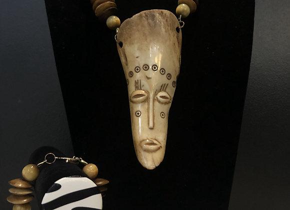 Men's Necklace Bone Set with Bracelet