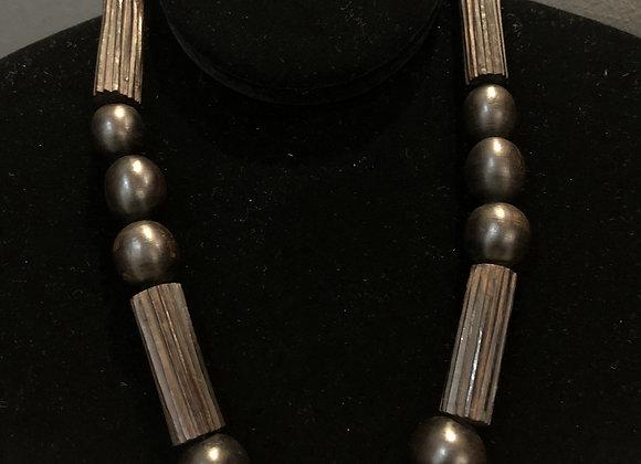 Med/Dark Brown Wooden Bead Necklace