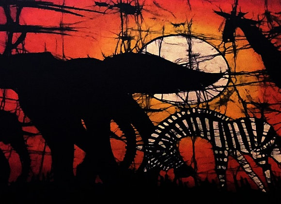 Animal Sunset 2 Batik