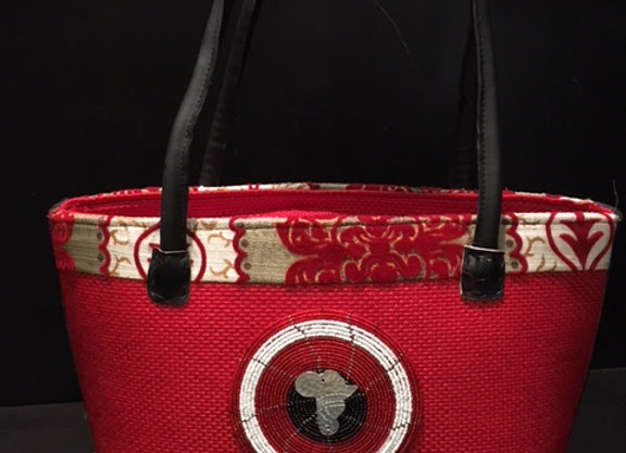 Red Africa Tote Bag