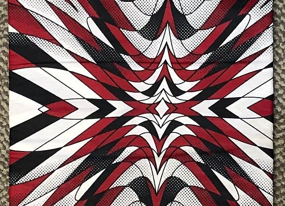 Red Black White Overlap Fabric