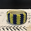 Thumbnail: Thick Beaded Bracelet on Leather