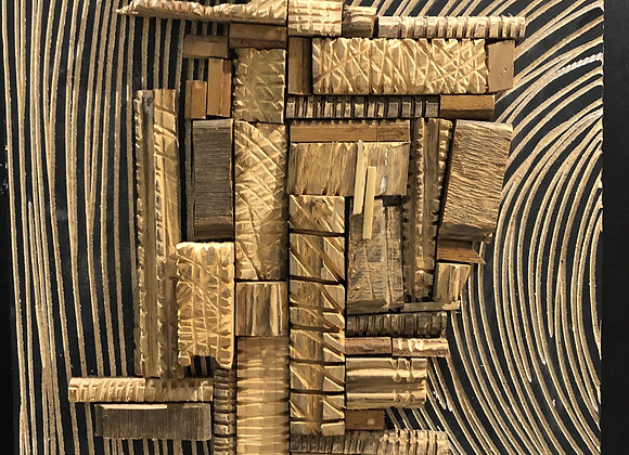 Raw As We Are 'Wood Collage' - Siphiwe Fukazi
