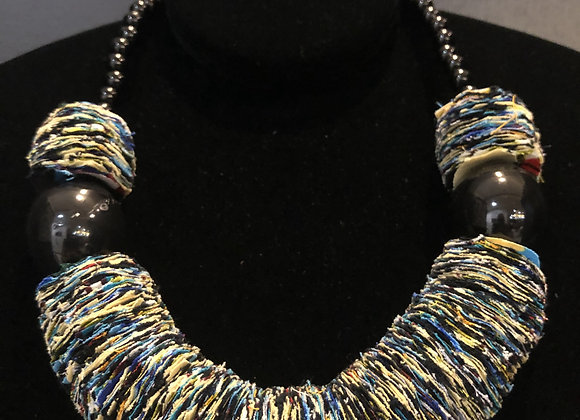 Thick Cloth Beaded Necklace