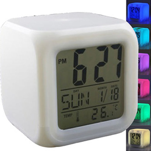 Reloj Despertador Cubo Luminoso