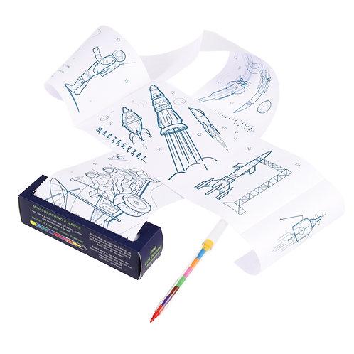 Mini-Malrolle Space mit Stift