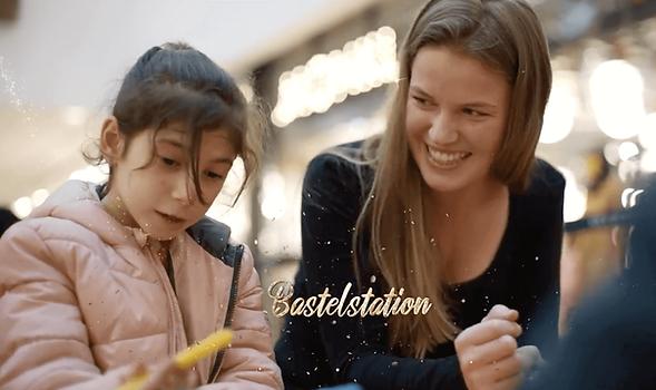 Spiel- und Bastelaktion in Shoppingmall mit Leo-Kindevents