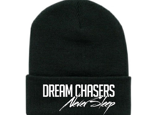 Beanie Black Solid White