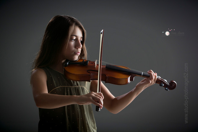 Portraits enfants musique - Studio photimage Saint-Dizier