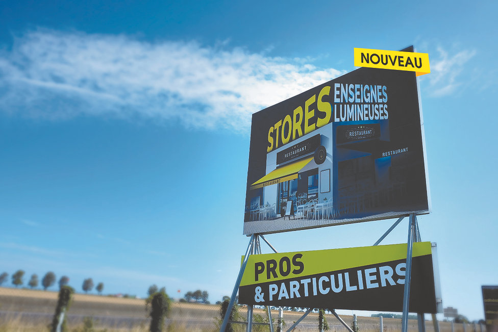 Panneaux - Enseigne 14 - Caen - Calvados - Normandie