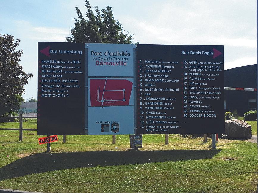 Signalétique et gravure - Enseigne 14 - Caen - Normandie