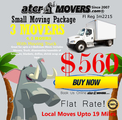 ATCR MOVERS 3 MOVERS 4.5 HOURS $560