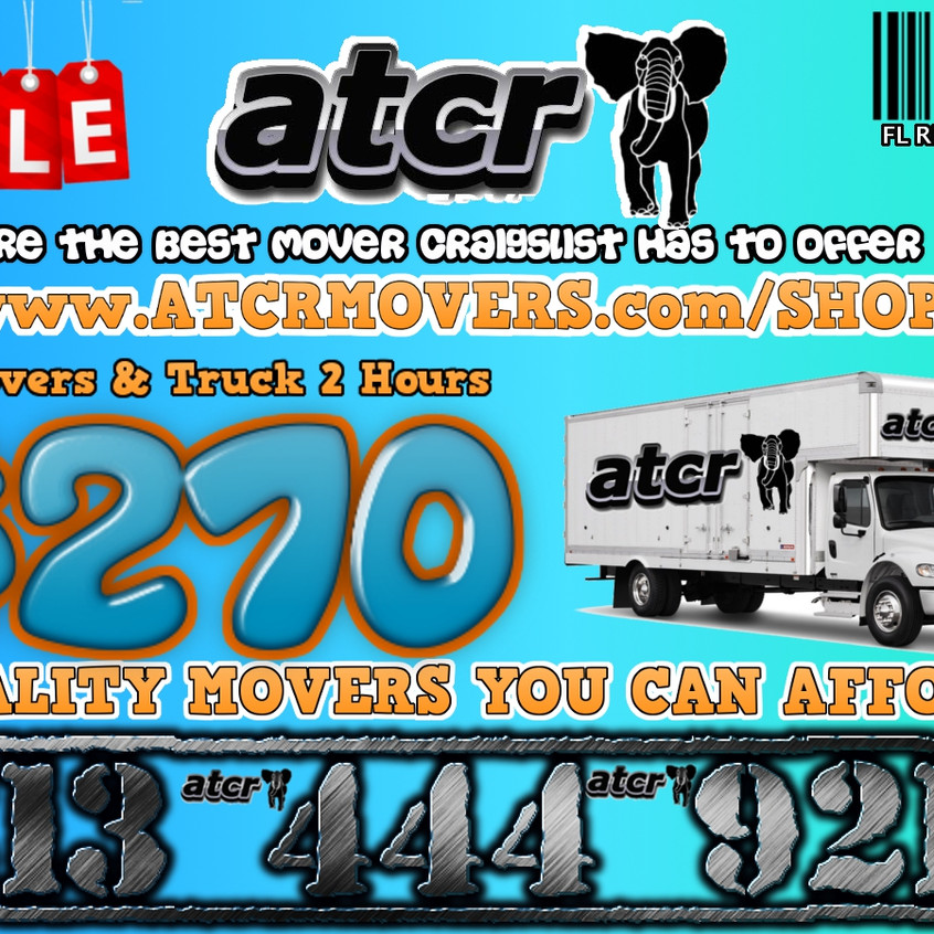 movers orlando atcr moving small package 2 movers 2 hours with 26ft truck $270. Setup may apply