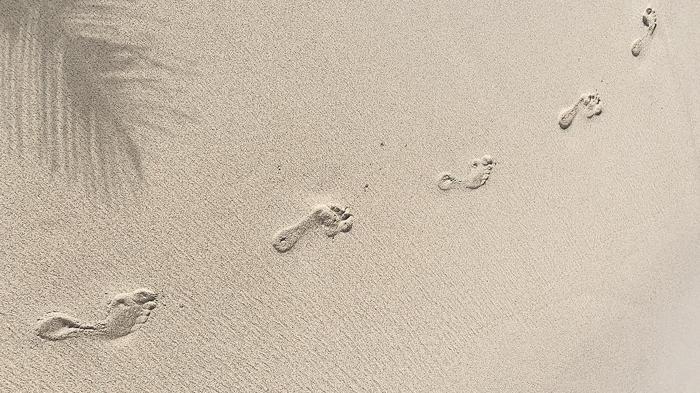 Huellas en la arena, Playa del Carmen.PN
