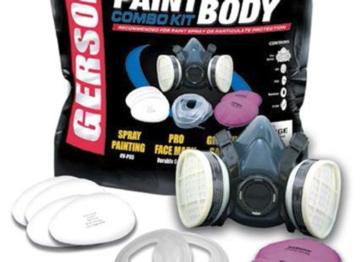 Gerson Paint & Body Respirator Kit With Replaceable OV/P95 & P100 Filters