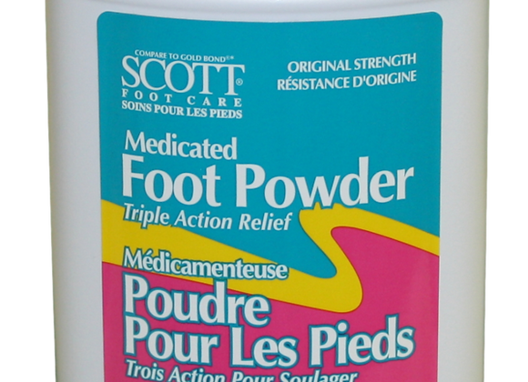 Scott Medicated Foot Powder - 10-oz