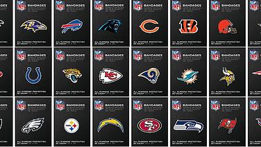 Official NFL Team Bandages