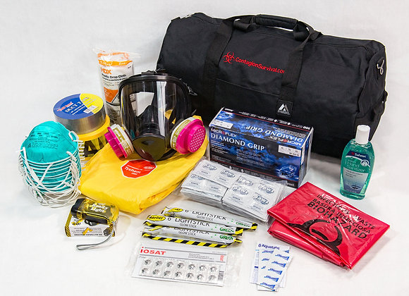 Contagion/HazMat Kit for One Person (Now with iOSAT KI Potassium Iodide Tablets)