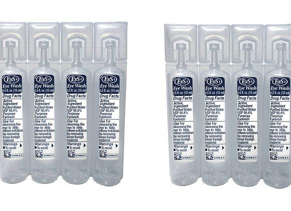 EyS Single-Use Eye Wash Two 4-Packs, 1/2-Ounce Each Vial