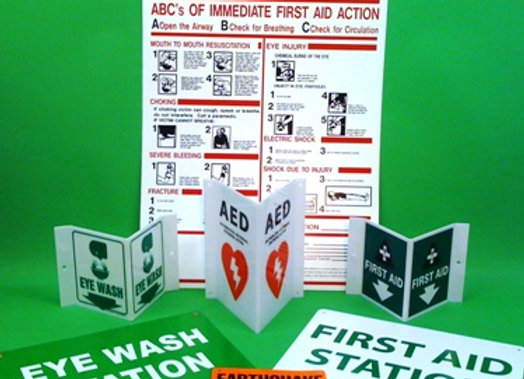 ABC's of First Aid/CPR Sign