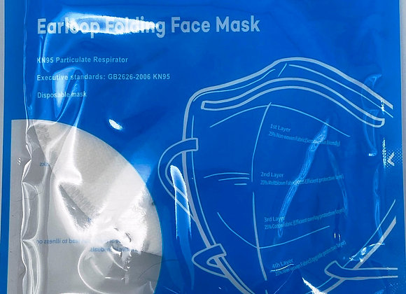 KN95 Individually-Packaged Earloop Folding Face Mask