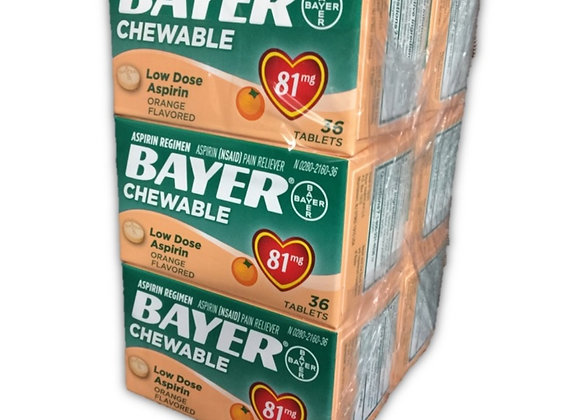 Bayer Chewable Low Dose 81mg Aspirin